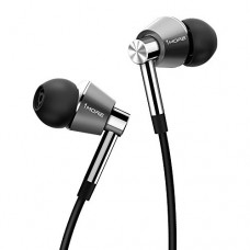 1MORE Triple Driver In Ear Headphones (Earphones, Earbuds) with Microphone (Titanium)