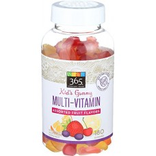 365 Everyday Value, Kid's Gummy Multi-Vitamin, Assorted Fruit Flavors, 180 ct