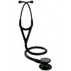 3M Littmann 6163 Cardiology IV Stethoscope, Black-Finish Chestpiece, Black Tube, Stem and Headset, 27""