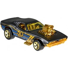 Hot Wheels 50th Anniversary Black & Gold 6 Car Set 2018