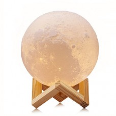 ACED 5.9Inch Luna Moon Lamp Night Light 3D Printed Lunar Moonlight Lamp LED Dimmable Touch Bedside Table Desk Lamp Rechargeable Battery Operated Ba...