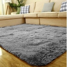 ACTCUT Super Soft Indoor Modern Shag Area Silky Smooth Fur Rugs Fluffy Rugs Anti-Skid Shaggy Area Rug Dining Room Home Bedroom Carpet Floor Mat 4- ...