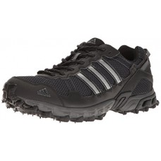 Adidas Men's Rockadia Trail M Running Shoe, Black/Black/Dark Grey Heather, 11 M US