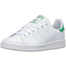 adidas Originals Boys' Stan Smith J Shoe, White/White/Green, 5.5 Medium US Big Kid