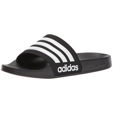 adidas Originals Men's CF Adilette Slide Sandal, Core Black/White/Core Black, 10 M US