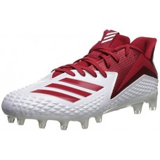 adidas Originals Men's Freak X Carbon Mid Football Shoe, White/Power Red/White, 7 M US