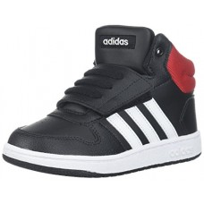 adidas Baby VS Hoops Mid 2.0 I, Core Black/White/Scarlet, 10 M US Toddler