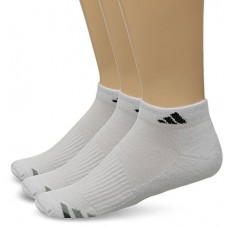 adidas Men's Cushioned Low Cut Socks (Pack of 3), White/Black/Granite/Light Onix, One Size
