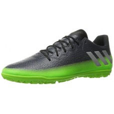 adidas Men's Messi 16.3 TF Soccer Shoe, Dark Grey/Metallic Silver/Neon Green, (9.5 M US)