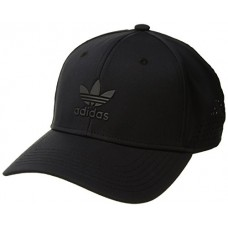 adidas Men's Originals Tech Mesh Snapback Strucuted Cap, Black/Black, One Size