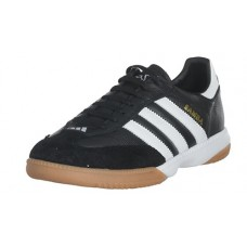 adidas Men's Samba Millenium Soccer Shoe,Black/Running White/Gold,8.5 M US