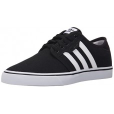 adidas Men's Seeley Skate Shoe,Black/White/Gum,10 M US
