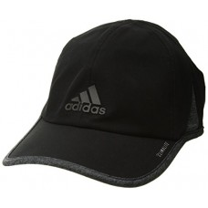 adidas Men's Superlite Relaxed Performance Cap, Black/Dark Grey Heather, One Size