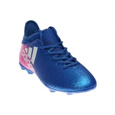 adidas Men's X 16.3 FG Soccer Shoe, Blue/White/Shock Pink, (10.5 M US)
