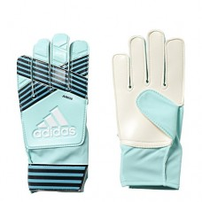 adidas Performance ACE Junior Goalie Gloves, Energy Aqua/Energy Blue, Size 7