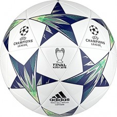adidas Performance Champions League Finale Kiev Capitano Soccer Ball, White/Blue, Size 5