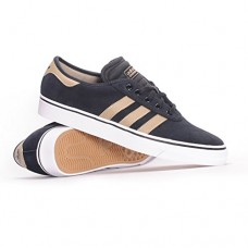 adidas Skateboarding Men's Adi-Ease Premiere Core Black/Raw Gold/Footwear White 7.5 D US
