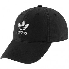 adidas Youth Originals Relaxed Fit Strapback Cap, Black/White, One Size