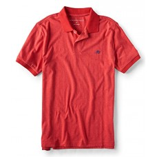 Aeropostale A87 Solid Jersey Polo 3XL Red Classic