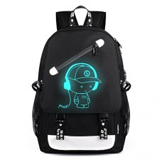 Aibecy Men Backpack Fashion External USB Charging Laptop Mochila Cartoon Anime Student School Bags For Teenagers Style 4