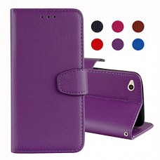 Redmi 4A Case,Aipyy [Card Slot][Magnetic Closure] Pure Color Litchi Texture PU Leather Wallet Folio Flip Case with Wrist Starp kickstand Cover for ...
