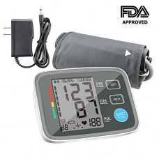 Blood Pressure Monitor Automatic Digital Upper Arm BP Monitor Automatically Measure Pulse Diastolic Systolic For Home Use 2 User Mode Fits Most Cuf...