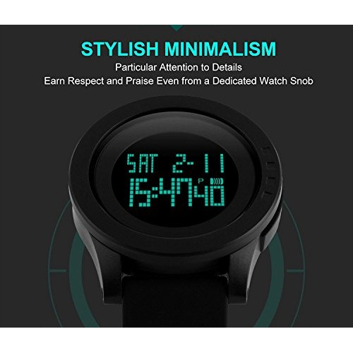 03a15f739 Aposon Men's Digital Sports Wrist Watch LED Screen Large Face Electronics Military  Watches Waterproof Alarm Stopwatch Back Light ...