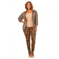 Ashley Stewart Women's Plus Size Camo Cargo Skinny Pant - Size: 16, Color: Multi