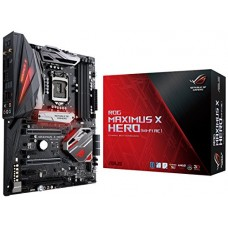 ASUS ROG Maximus X Hero (Wi-Fi AC) LGA1151 DDR4 DP HDMI M.2 Z370 ATX Motherboard with onboard 802.11ac WiFi, Gigabit LAN and USB 3.1 for 8th Genera...