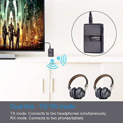 Avantree aptX Low Latency Bluetooth Transmitter Receiver 2