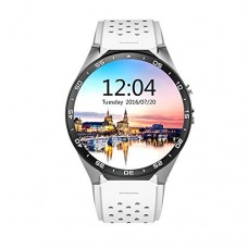 AWOW 3G WIFI Smart Watch Cell Phone All-in-One Android 5.1 Supports Nano SIM Card With GPS Camera Heart Rate Monitor Google Map Google Play(SilverW...