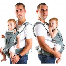 Ergonomic Baby Carrier 6 in 1 for Men and Women by Baby Dush – Soft Front Facing Baby Carrier or Baby Carrier Backpack for Newborns up to 44 lbs. –...
