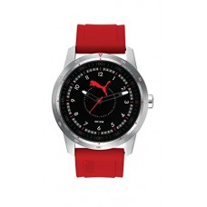 Be-Puma PU104111002be Men's Red Rubber Black Dial Watch