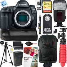 Canon EOS 5D Mark IV 30.4 MP DSLR Camera (Body Only) with Canon BG-E20 Battery Grip Accessory Bundle