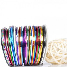 Beaute Galleria 30 Mixed Colors/Rolls Striping Tapes Line Nail Art Decal Sticker Tip Decoration Manicure