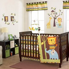 Zuzu and Friends 5 Piece Baby Crib Bedding Set with Bumper