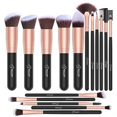 BESTOPE Makeup Brushes 16 PCs Makeup Brush Set Premium Synthetic Foundation Brush Blending Face Powder Blush Concealers Eye Shadows Make Up Brushes...