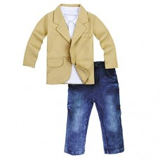 Big Elephant 3 Pieces Kid Boys Shirt Jacket Jeans Set Toddler Pants Clothing D99