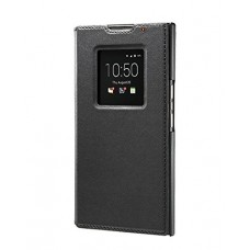 BlackBerry Leather Smart Flip Case for BlackBerry PRIV - Retail Packaging - Black
