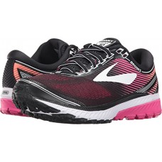 Brooks Women's Ghost 10 Black/Pink Peacock/Living Coral 9 D US