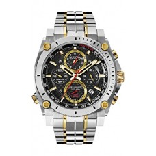 Bulova Men's 98B228 Precisionist Analog Display Japanese Quartz Two Tone Watch