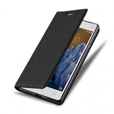 Cadorabo - Book Style Wallet with Stand Function for > Nokia 3 < with Card Slot and invisible Magnetic Closure - Etui Case Cover Protection in NIGH...
