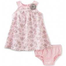 Calvin Klein Baby Girls' 2 Pieces Dress with Panty-Lace, Pink, 24M