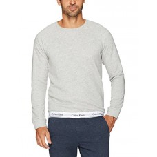 Calvin Klein Men's Modern Cotton Lounge Sweatshirt, Grey Heather, Medium