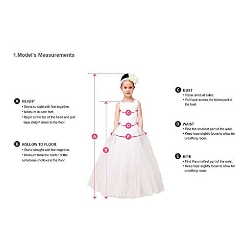 Carat Elegant Flower Girl Lace Beading First Communion Dress 2-12 Years Old