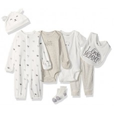 Carter's Baby 7-Piece Bodysuit Set, White Lamb, 6 Months
