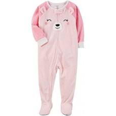 Carter's Baby Girls' 12M-24M One Piece Bear Fleece PJS 24 Months