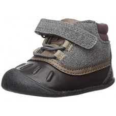 Carter's Every Step Boys Everystep Stage 1 Crawl, Jonah-CB Fashion Boot, Grey/Dark Brown, 2.0 M US (6-9 Months)