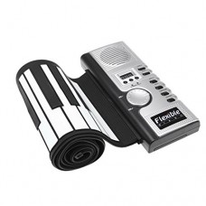 CH Black Portable Flexible 61 Keys Silicone Hand-Rolled Piano Electronic Piano For Kids Adult