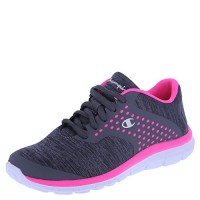 Champion Girls' Grey Pink Jersey Girls' Gusto Cross Trainer 5 Regular